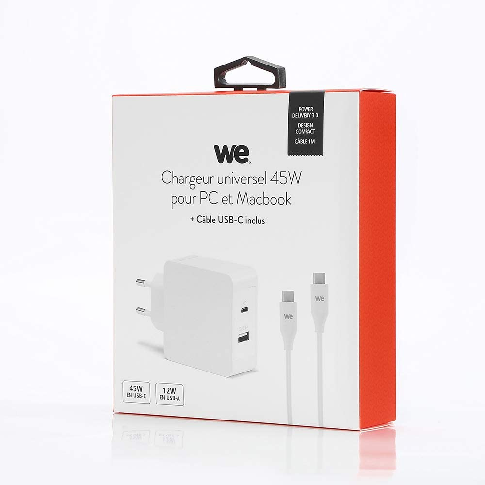 chargeur pc usb c 45w universel
