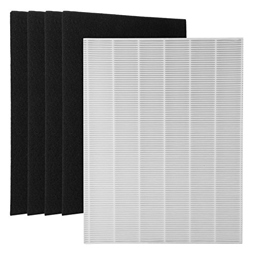 Wolf Filter 1 True HEPA Filter + 4 Carbon Replacement Filters A 115115 Size 21 for Winix PlasmaWave Air purifier 5300 6300 5300-2 6300-2 P300 C535