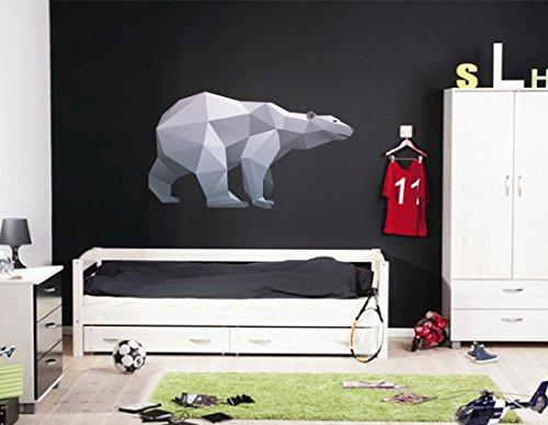 cik379 Full Color Wall decal polar bear polar geometric animals living bedroom by StickersForLife
