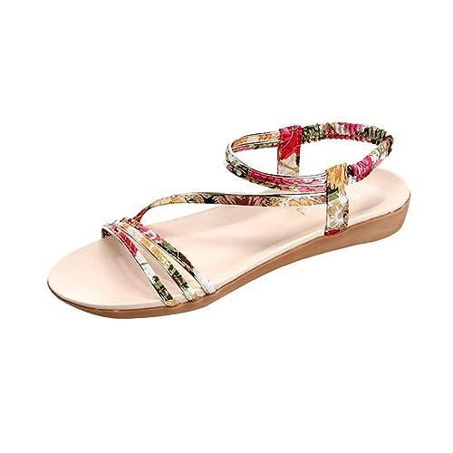 Zapatos De Verano para Mujeres Zapatos con Boca De Gato Zapatos Romanos Casual Sandalias Planas Sandalias para Mujer: Amazon.es: Zapatos y complementos