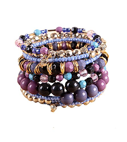 Black Friday Deals 1 Set Boho Wholesale Multilayer Acrylic Beads Beach Bracelet Bohemia Bracelet (Friday Black Deal 1)