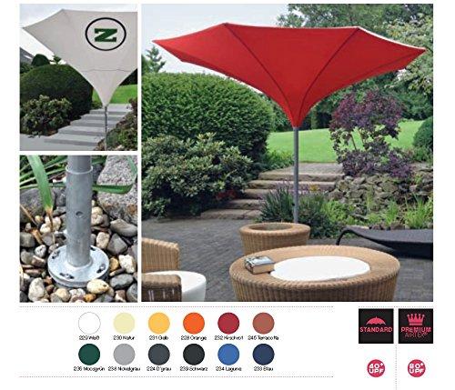 SKYLINE TROMPENFORM UMBRELLA 400 cm Ø - 12 - LIEFERBARE FARBEN AUF ANFRAGE - KURBEL - SONNENSCHIRM - mit KURBEL abnehmbar ZANGENBERG - GERMANY - RUND - 400 cm - 8 teilig - Farben : 12 Farben AUF ANFRAGE - VERTRIEB - Holly ® Produkte STABIELO ® - holly-sunshade ® LIEFERUNG MIT ERDROHR