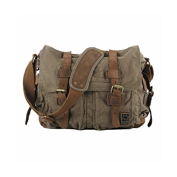 41952bd1b6 Kaukko Bags - Kaukko Unisex Vintage Casual Canvas Messenger Bag Shoulder  Bag Cross Body Satchel