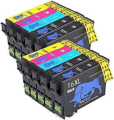 Abcs Printing Compatible Epson 16XL 16 Cartuchos de tinta, para ...