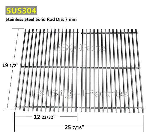 Hongso SCG528 (Aftermarket) BBQ Barbecue Replacement Stainless Steel Cooking Grill Grid Grate for Weber Genesis E and S series gas grills, Lowes Model Grills by Hongso