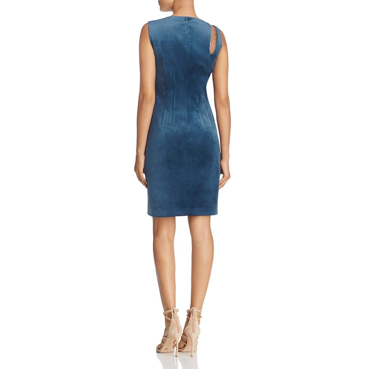 c1f93ab2500 Elie Tahari Womens Emory Velvet Party Cocktail Dress Blue 6 at Amazon  Women s Clothing store