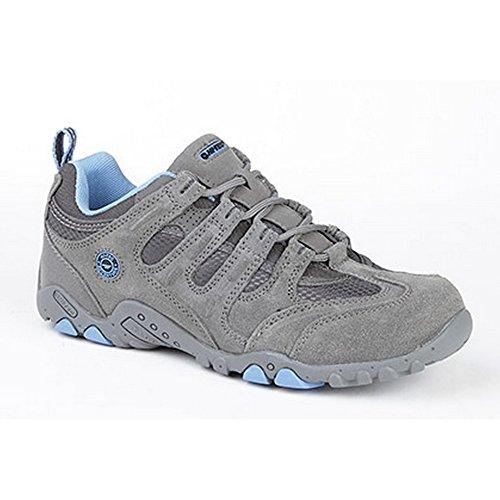 Hi-Tec - Zapatillas deportivas clásicas modelo Quadra para mujer Gris/carbón/azul