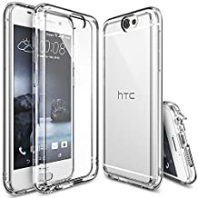 HTC One A9 Case - Ringke® FUSION [Crystal View] ** Shock Absorption TPU Bumper Drop Protection **[FREE HD Screen Protector] Premium Crystal Clear Hard Back [Anti-Static][Scratch Resistant] for HTC One A9