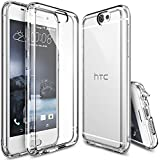 HTC One A9 Case, Ringke [Fusion] Crystal Clear PC Back TPU Bumper w/ Screen Protector [Drop Protection/Shock Absorption Technology][Attached Dust Cap] For HTC One A9 - Crystal View