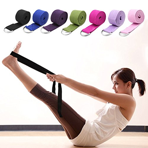 Sport Yoga Stretch Strap D-Ring Belts Gym Waist Legs Fitness Training AdjustabHC