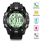 Outdoor Waterproof LED Digital Sports Watch, Smart Watch with Fitness tracker Activity Monitor Call SMS Reminder for Android and IOS Black, EIISON