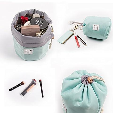 Zoevan Waterproof Cosmetic Bags Makeup Bag Travel Barrel Cases Kit Organizer Bathroom Storage Carry Case Toiletry Bags Multifunctional Bucket Toiletry Bag Polyester 300T - Accessories