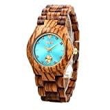 GBlife Women Wooden Watch with Turquoise Dial Lightweight Review and Comparison