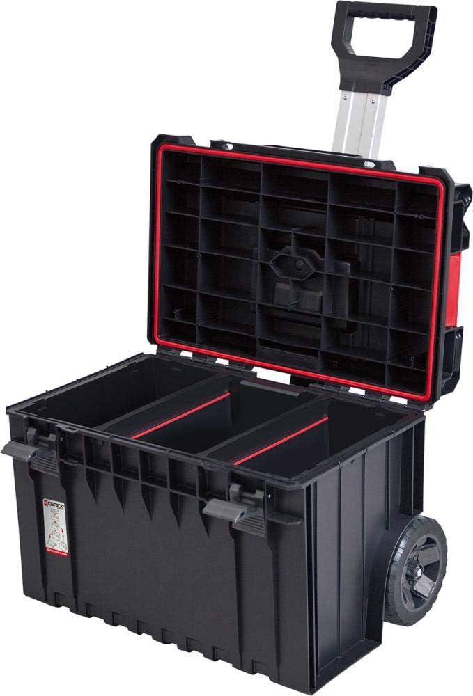 qbrick profesional Cart con herramientas (58,5 x 43 cm maletín de herramientas caja de herramientas caja de herramientas caja organizadora werkzeugkiste Caja: Amazon.es: Bricolaje y herramientas