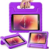 AVAWO Kids Case for New Samsung Galaxy Tab A 8.0 2017(SM-T380/SM-T385)- Shockproof Light Weight Super Protection Handle Stand Case for Kids Children for Samsung Galaxy Tab A 8-inch 2017 Tablet, Purple