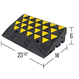 """Guardian 6"""" Rubber Curb Ramp with Round End Caps"""