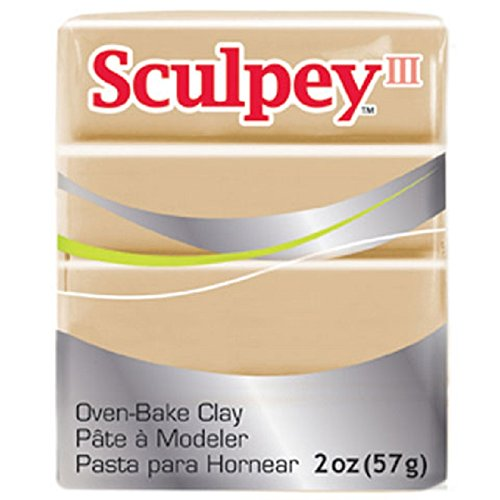 (Dollhouse Miniature Oven Bake Modeling Polymer Clay in Tan by Sculpey III (2 oz))