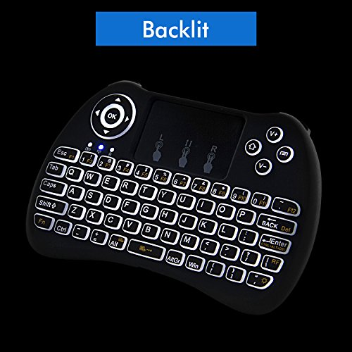 Backlit Wireless Keyboard Touchpad Raspberry product image