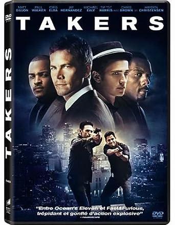Takers Francia Dvd Amazon Es Matt Dillon Paul Walker Idris