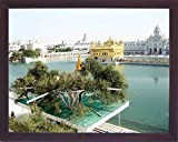 A Holy View Sikh religious pilgrim place, Seventh wonder of the world Amritsar, A Sikh Religious painting poster with frame for Sikh family home/office/Gift Purpose/Sikh Religious/Gurudwara g