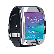 MightySkins Protective Vinyl Skin Decal for Samsung Galaxy Gear S Smart Watch cover wrap sticker skins Gray Camo