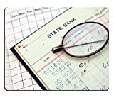 MSD Natural Rubber Gaming Mousepad vintage bank saving account ledger from the 1920s IMAGE 25784466