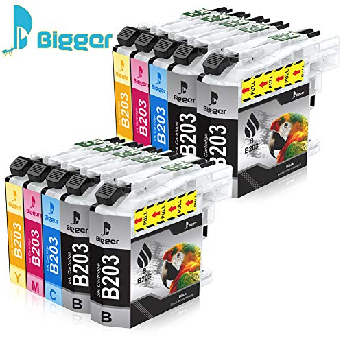 BIGGER 10Pack High Yield Compatible Ink Cartridge Replacement for Brother LC203, Used to MFC-J480DW,J680DW,J885DW,J880DW,J4420DW,J4320DW,J4620DW,J5620DW,J5520DW,J5720DW
