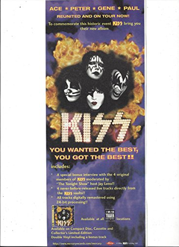 Promotional Magazine Ad For Kiss 1996 You Wanted The Best Album & Tour