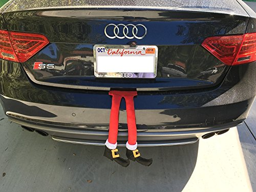 Christmas Car Auto Costume Decoration Santa Claus Legs Sticking Out of -
