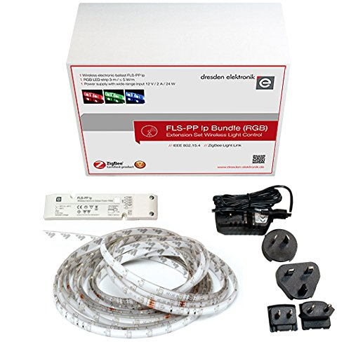 Extension Set for Smart Light Control with Wireless Ballast, 3m RGB LED Stripe, Power Supply, ZigBee Certified Product