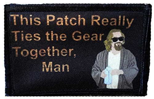 (Big Lebowski Pee Rug Morale Patch. Perfect for your Tactical Military Army Gear, Backpack, Operator Baseball Cap, Plate Carrier or Vest. 2x3