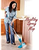 Healthy Spray Mop - Floor Mop With Removable Washable Cleaning Pad And Integrated Water Spray Mechanism (Random Color)