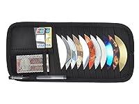 CD Visor Organizer for car 12 Pocket CD Visor Holder (black-1)