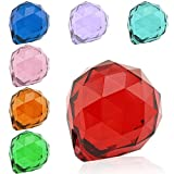 Topix 40mm Vintage Feng Shui Faceted Decorating Crystal Ball Prism (7 Color, 7pcs)