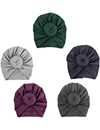 Baby Hat, ISHOWDEAL 5PCS Baby Hat with Bow Baby Caps...