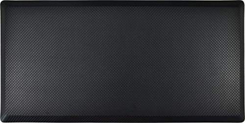 Surpahs Anti Fatigue Mat, 20 x 40, Black, Standing Floor Comfort Mat - for Standing Desks, Kitchens - Commercial Grade, Professional Design, Works on All Hard Surfaces - Waterproof Top, Non-Skid Back