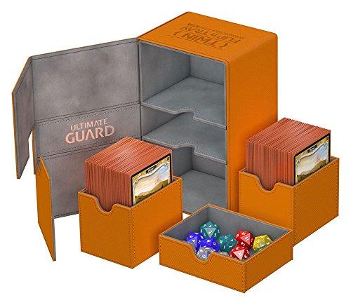 Ultimate Guard - Deck Box: Twin Flip N Tray Xenoskin 160 Orange ()