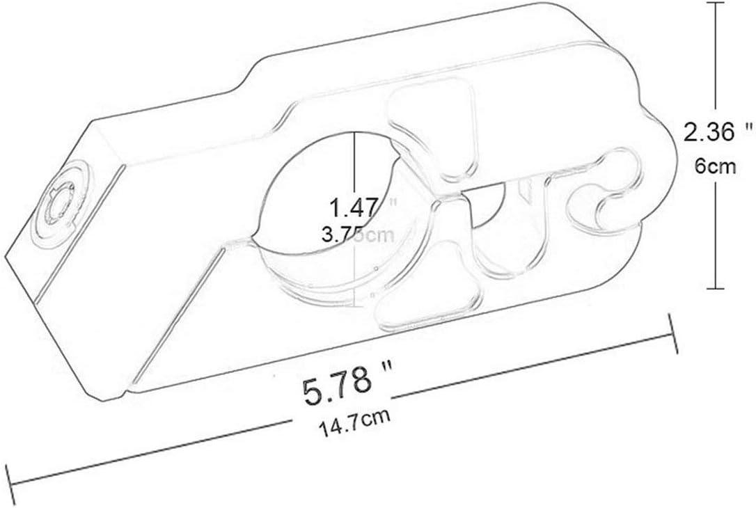 Blocco universale manubrio modificato per moto Blocco antifurto Blocco manubrio in lega di alluminio