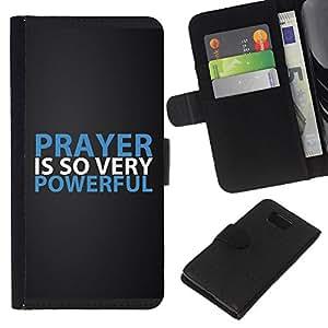KLONGSHOP // Tirón de la caja Cartera de cuero con ranuras para tarjetas - Oración Biblia es tan muy de gran alcance - Samsung ALPHA G850 //