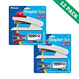 Desktop Stapler Bazic Comfort Grip Office Colorful Stapler Sets 12 Units Per Box