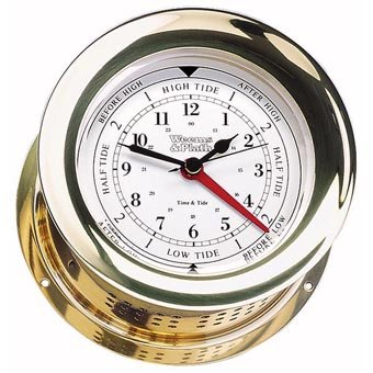 Weems & Plath Atlantis Collection Time and Tide Clock (Brass)