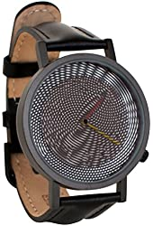 Ever Changing Moire Effect Op Art Unisex Analog Water Resistant Novelty Gift Watch