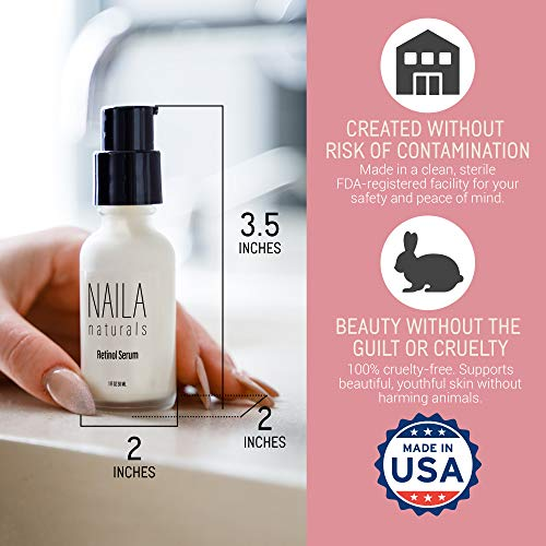 51GnXG2YZYL - Advanced Retinol Serum - Hydrating Anti Aging Face Serum And Retinol Firming Serum - 87% ORGANIC ingredients - Collagen Retinol Serum - All Natural Skin Care - Made in USA
