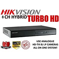 Hikvision DS-7208HGHI-SH-2TB TRIBRID DVR, 8 CHANNEL TURBOHD/ANALOG, A