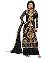 Fashion Storey Georgette Embroidered semi stitched Salwar suit