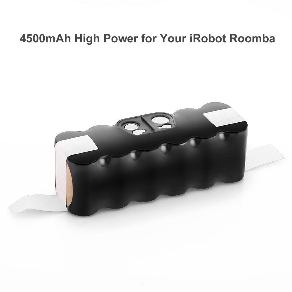 Ofpow 4500mAh 14.4V Ni-MH Aspirador Batería de Repuesto para iRobot Roomba 500, 600, 700, 800 Series, Compatible con iRobot R3, 80501, 11702, 4419696, ...