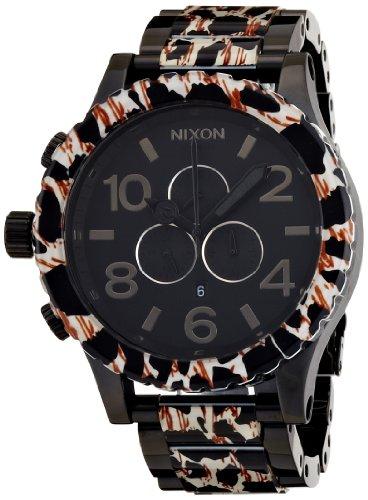 [ニクソン]NIXON 51-30 CHRONO: ALL BLACK/LEOPARD NA0831153-00 メンズ