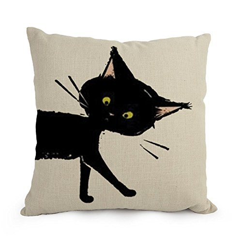 MaSoyy Pillow Covers 12 X 20 Inches / 30 By 50 Cm(2 Sides) Nice Choice For Gril Friend Couch Divan Car Saloon Dining Room - Cats Round Faced