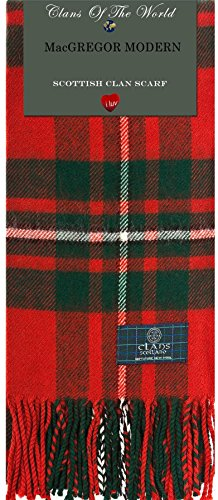 MacGregor Modern Tartan Clan Scarf 100% Soft Lambswool