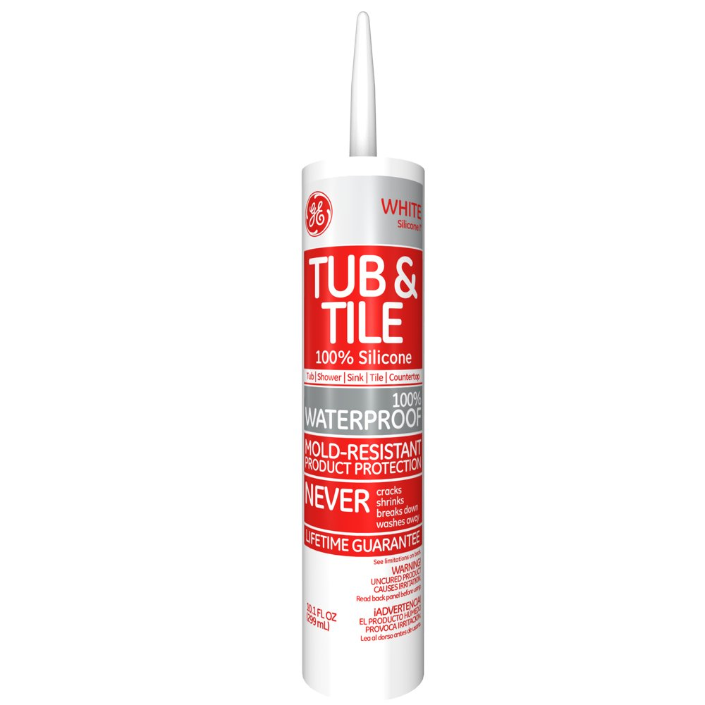 Amazon.com: GE Silicone I Tub & Tile Silicone Caulk, 10.1 Oz. Tube ...